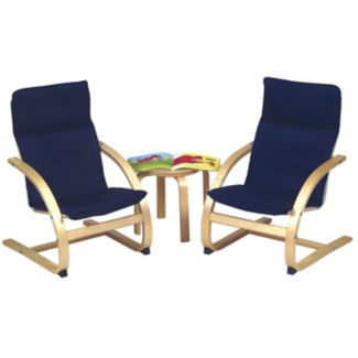 2 Kiddie Chairs with Small End Table, P30133