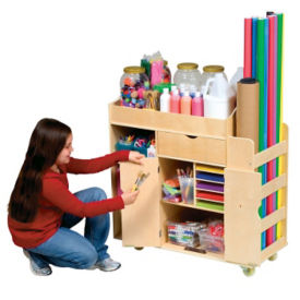 Mobile Art Activity Cart, P30319