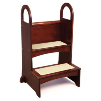 "Step Stool for Children in Espresso Finish - 21""W x 32""H, V21592"