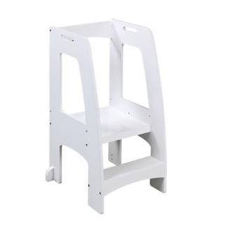 "Stepping Platform for Children in White Finish - 20.5""W x 36""H, V21595"
