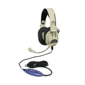 Deluxe USB Headphones with Built-in Microphone, M10351