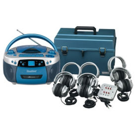 Deluxe CD/Cassette Listening Center 6 Person, M10356