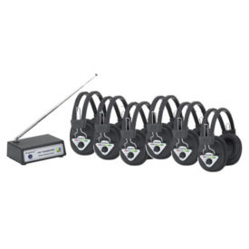 Wireless Multi Frequency Listening Center 6 Person, M10374