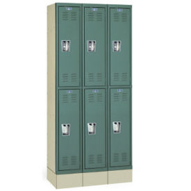 "Double Tier Lockers Assembled 12"" W x 15"" D x 36"" H, B30156"