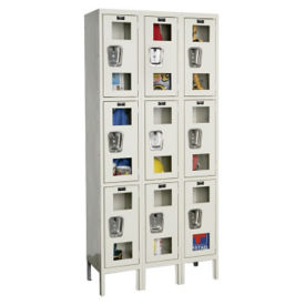 "3 Tier 3 Wide See-Through Locker - 15""D, B34137"