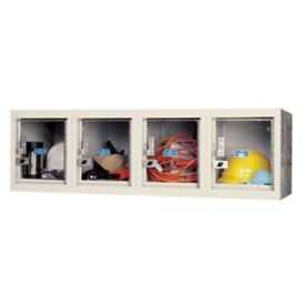 Wall Mount See-Through Locker 4 Wide, B34145