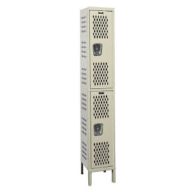 "Assembled 2-Tier Ventilated Locker 12"" W x 12"" D, B34220"