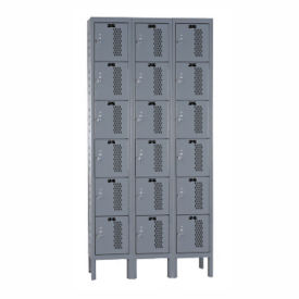 "6-Tier 3-Wide Ventilated Locker 36"" W x 15"" D, B34210"