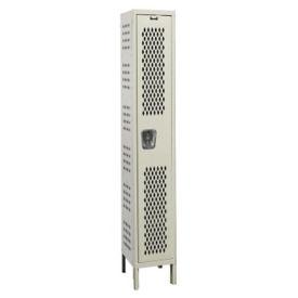 """Assembled 1-Tier Ventilated Locker 12"""" W x 15"""" D, B34213"""
