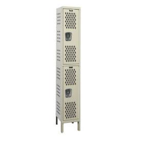 """Assembled 2-Tier Ventilated Locker 12"""" W x 18"""" D, B34222"""