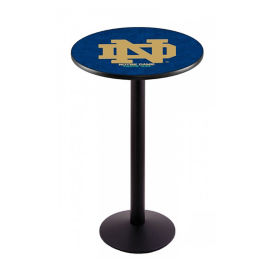 "College Logo Disc Base Table - 36""DIA x 42""H, T11668"