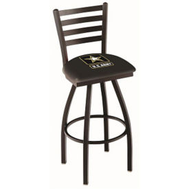 "Vertical-Backed Stool with Vinyl Military Logo -  30""H, C80475"