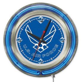 "Neon Clock with Military Logo - 15"" Dia., V21965"
