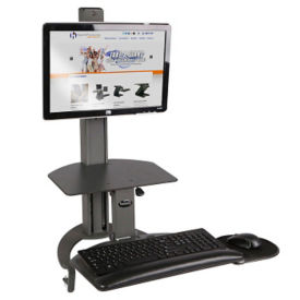Single Monitor Adjustable Height Desktop Mount, D35328