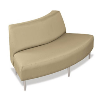 Outside Curve Loveseat with Fabric Upholstery, W60650