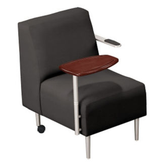 Tablet Arm Chair with Fabric Upholstery, W60659