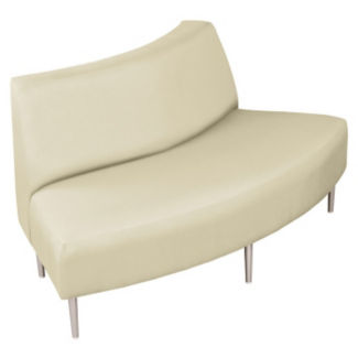 Outside Curve Loveseat with Vinyl Upholstery, W60662