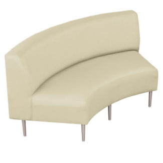 Inside Curve Loveseat with Vinyl Upholstery, W60663