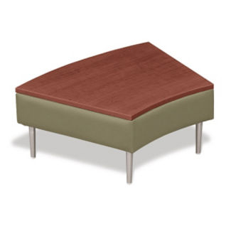 Wedge Shaped Table with Vinyl Upholstery, W60666