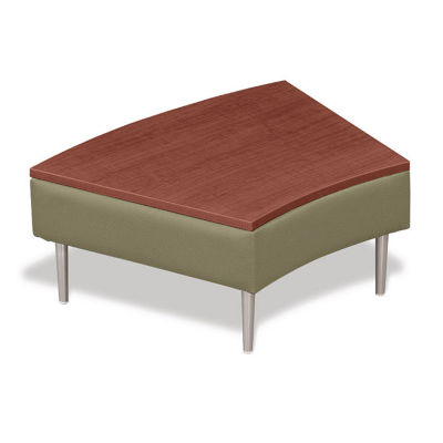 Compare Wedge Shaped Table With Vinyl Upholstery, W60666