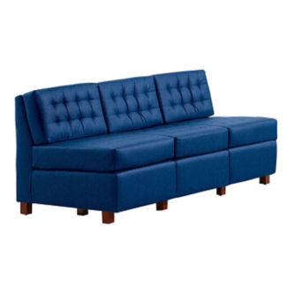 Heavy Duty Fabric Tufted Armless Sofa, W60728