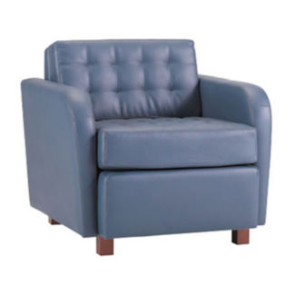 Standard Fabric or Vinyl Tufted Lounge Arm Chair, W60733