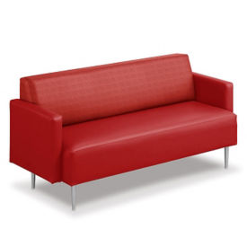 "Fabric and Vinyl Sofa - 73.5""W, W60758"