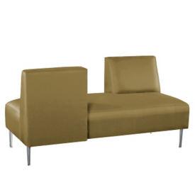 Vinyl Armless Lounge Sofa with Opposing Backs, W60759