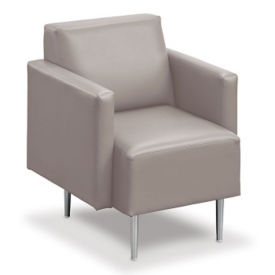 Fabric and Vinyl Club Chair , W60752