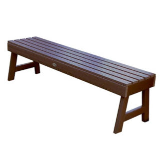 "Synthetic Wood A Frame Outdoor Bench 60""W, F10008"