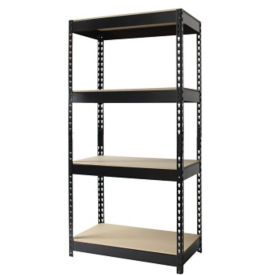 "Four Shelf Riveted Shelving-30""W x 16""D x 60""H, B30167"