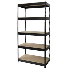 "Five Shelf Riveted Shelving-36""W x 18""D x 72""H, B30168"