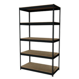 "Five Shelf Riveted Shelving-48""W x 24""D x 84""H, B30171"