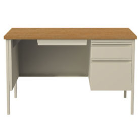 "48"" Single Pedestal Desk, D32157"