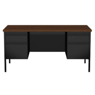 "60"" Double Pedestal Desk, D32158"
