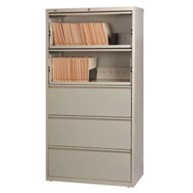 "36""W Four Drawer Roll Out Binder Lateral File, L40016"
