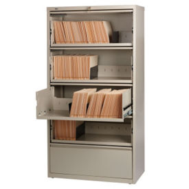 "36""W Five Drawer Roll Out Binder Lateral File, L40017"