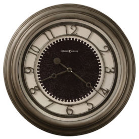 "Oversized Nickel Wall Clock- 25.5"", V21852"