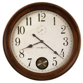 "Wood Frame Hanging Clock- 32"", V21853"
