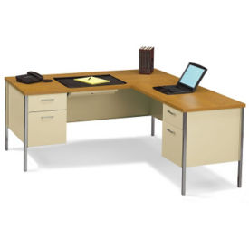 Steel Workstation L with Right Return, D34063