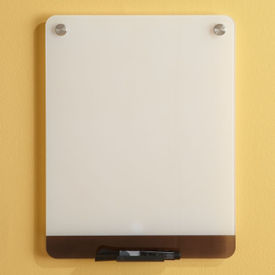 "Tempered Glass Dry Erase Markerboard - 12"" x 16"", B23338"