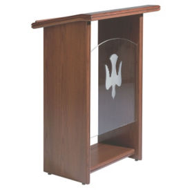 "Plexiglass Pulpit with 1-1/2"" Top, C30118"