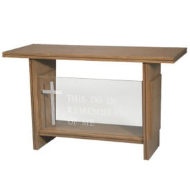 "Plexiglass Communion Table with 1-1/2"" Thick Top, C30123"