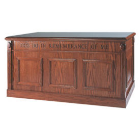 Stain Communion Table with Open Back, C30132