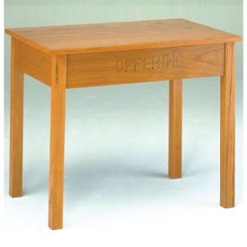 """Wood Offering Table - 48""""W x 24""""D, C30146"""