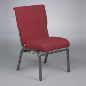 Fabric Metal Wing Back Chair with Bookrack, C30162