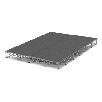 Rectangular Carpeted Stage Set - 12'W x 8'H, P60033