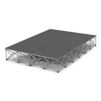 "Rectangular Carpeted Stage Set - 12'W x 16""H, P60034"