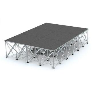 Rectangular Carpeted Stage Set - 12'W x 24'H, P60035