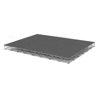 Rectangular Carpeted Stage Set - 12'W x 8'H, P60037